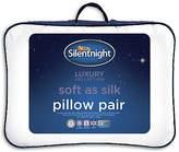 Silentnight Soft as Silk Pillows - Set of 2