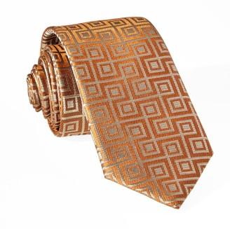 Tie Bar Square Geo Orange Tie