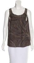 Bottega Veneta Sleeveless Abstract Print Top