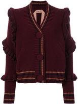ruffle cardigan sweater - ShopStyle