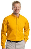 Port Authority Men's Long Sleeve Easy Care Shirt M Classic Navy/ Light Stone