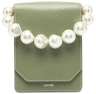 Cafune Snakeskin Clutch Bag With Changeable Handles