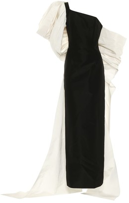 Carolina Herrera Off-shoulder silk-faille gown