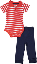 Sweet & Soft Red Stripe Polo Bodysuit & Pants - Infant