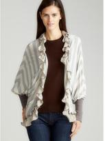 Scrapbook Maple Ruffle Stripe Cardigan