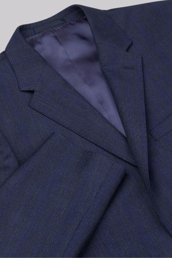 Ermenegildo Zegna Cloth Regular Fit Navy Check Jacket