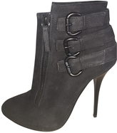 Giuseppe Zanotti Anthracite Patent leather Ankle boots