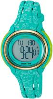 Timex Women's 'Ironman Sleek 50 Floral' Quartz Resin and Silicone Running Watch, Color:Blue (Model: TW5M031009J)