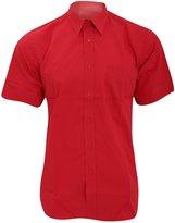 Fruit of the Loom Mens Short Sleeve Poplin Shirt (3XL)