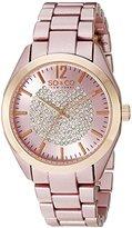 SO&CO New York Women's 5096A.4 SoHo Quartz Crystal Dial Oversized Pink Link Bracelet Watch