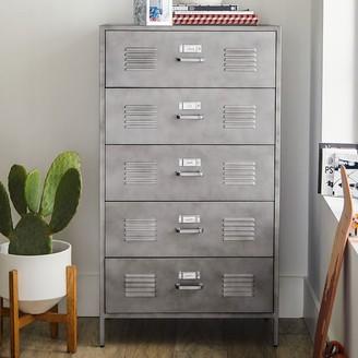 Pottery Barn Teen Locker 5-Drawer Tall Dresser