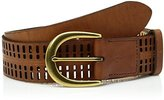 Fossil Women's Claire Emboss and Perforated Belt Tan