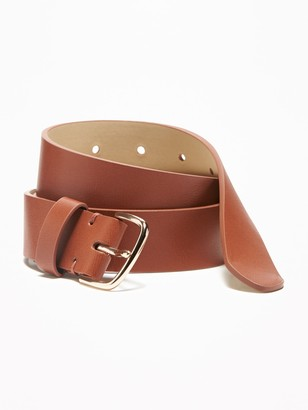 "Old Navy Faux-Leather Belt for Women (1 1/4"")"