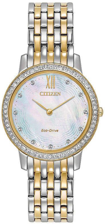 Citizen Womens Two Tone Bracelet Watch-Ex1484-57d