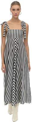 Zimmermann Striped Linen Midi Dress