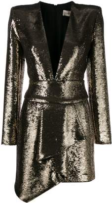 Alexandre Vauthier sequin fitted mini dress