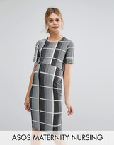 ASOS Maternity - Nursing ASOS Maternity NURSING Bodycon Check Dress