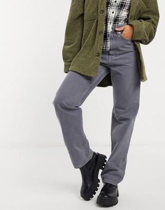 Weekday Rowe straight leg jeans in standard gray