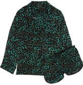 Love Stories Jude Xl And Audrey H Leopard-print Satin Pajama Set