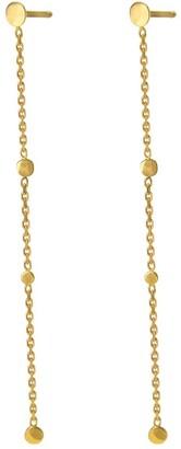 Irena Chmura Jewellery Long Dots & Chain Earrings