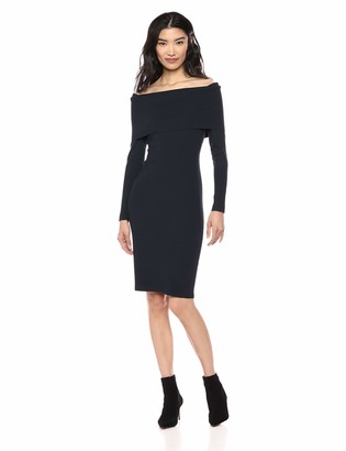 Lark & Ro Women's Long Sleeve Bateaux Neck Sweater Dress