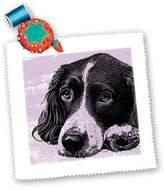 3dRose qs_164120_1 Cassie Peters Dogs - Vintage Dog Digital Art by Angelandspot - Quilt Squares