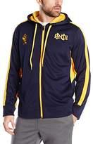 AND 1 Men's Primetime Fleece Full Zip Hooded Sweatshirt, Pea Coat, Large