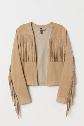 H&M Jacket with Fringe - Beige