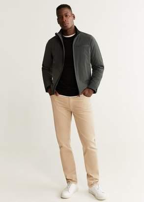 MANGO MAN - Light water-proof thermal insulated jacket khaki - XS - Men
