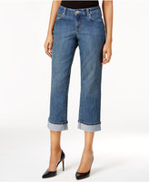 Style&Co. Style & Co Petite Curvy Oxford Wash Capri Jeans, Only at Macy's