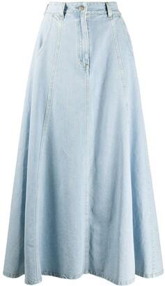 Societe Anonyme High-Waisted Denim Skirt