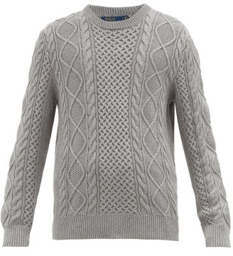 Polo Ralph Lauren Cable-knit Cotton Sweater - Mens - Grey