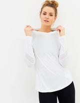 Calvin Klein LS Hooded Tee with Mesh Inserts