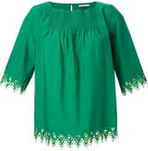 Etro embroidered trim blouse