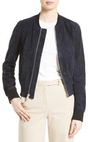 Theory Women's Daryette S Benna Suede Bomber Jacket