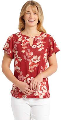 Regatta Twist Collar T-Shirt with Flounce Sleeve