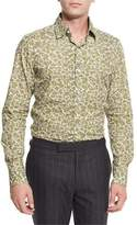 Tom Ford Paisley Floral-Print Shirt, White