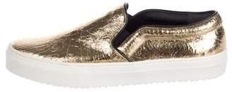 Celine Metallic Slip-On Sneakers