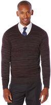 Perry Ellis Variegated Stripe V-Neck Sweater