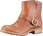 Marc by Marc Jacobs Buckled Short Motorcycle Boot, Tan