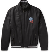 Lanvin Appliquéd Wool-twill Bomber Jacket