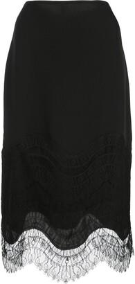 Kiki de Montparnasse lace-detail skirt