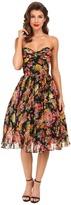 Unique Vintage Dandridge Chiffon Swing Dress
