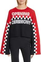 Opening Ceremony Women's Racer Crop Intarsia Sweater