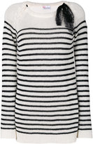 RED Valentino striped jumper - women - Polyamide/Angora/Cashmere/Wool - XS