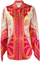 Emilio Pucci printed draped sleeves blouse
