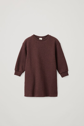 Cos Cotton A-Line Lurex Sweater Dress