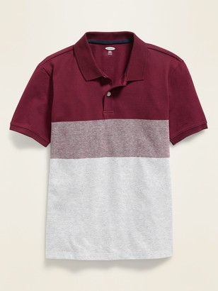 Old Navy Color-Blocked Built-In Flex Pique Polo for Boys