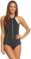 Reebok Women's Metallic Scuba High Neck One Piece Swimsuit 8151509