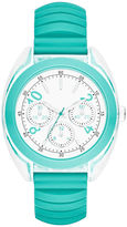 JCPenney FASHION WATCHES Womens Multifunction-Look Silicone Expansion Strap Watch